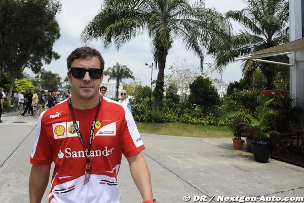 Alonso en Sepang ayer