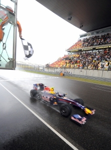 Red Bull's Sebastian Vettel of Germany t